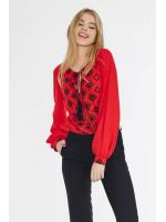 Блуза «Варьяте» красного цвета