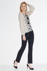 Блуза «Варьяте» бежевого цвета