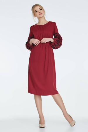 Платье «Огана» бордового цвета
