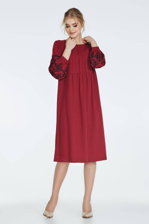Сукня «Огана» бордового кольору