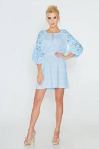 Платье «Катря» голубого цвета