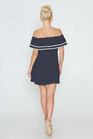 Платье «Евдокия» синего цвета