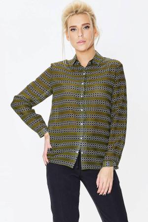 Рубашка «Магдаленка» зеленого цвета