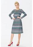 Сукня «Аглая» зеленого кольору в смужку