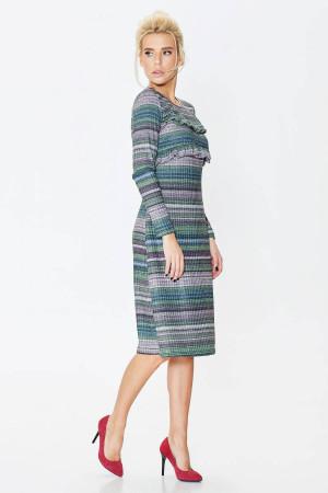 Платье «Аглая» зеленого цвета в полоску