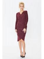 Сукня «Карамболь» бордового кольору