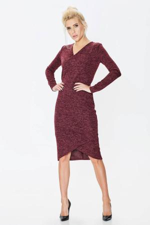 Платье «Карамболь» бордового цвета