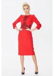 Сукня «Августина» червоного кольору