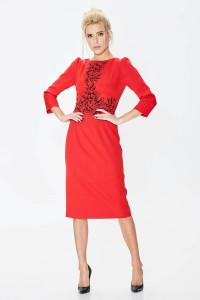 Платье «Августина» красного цвета