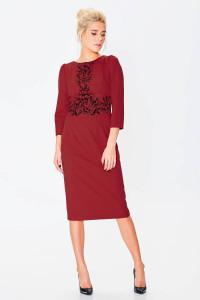 Платье «Августина» бордового цвета