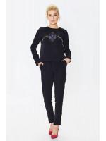 Брючний костюм «Агафія» чорного кольору