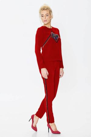 Брючний костюм «Агафія» червоного кольору