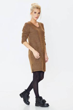 Платье «Фаина» коричневого цвета