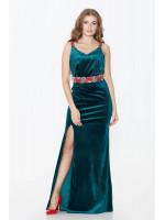 Платье «Медея» зеленого цвета