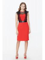 Платье «Галия» красного цвета