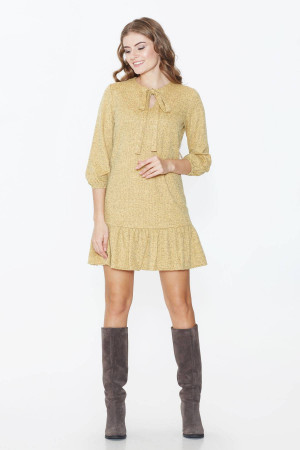 Платье «Веста» горчичного цвета