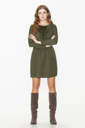 Сукня «Клодет» кольору хакі