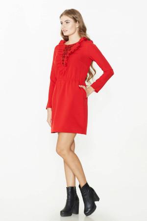 Платье «Клодет» красного цвета