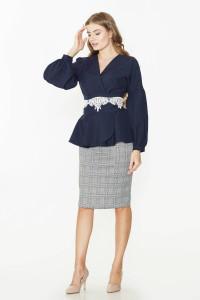 Блуза «Авіньйон» синього кольору