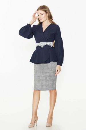 Блуза «Авиньон» синего цвета