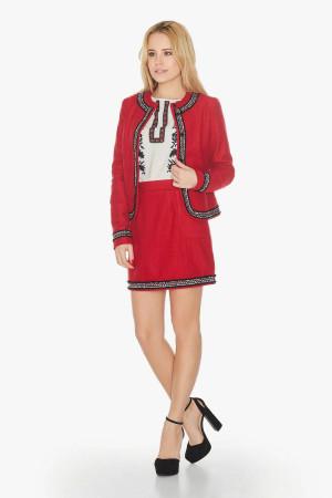 Жакет «Дина» красного цвета