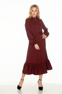 Платье «Юкон» бордового цвета