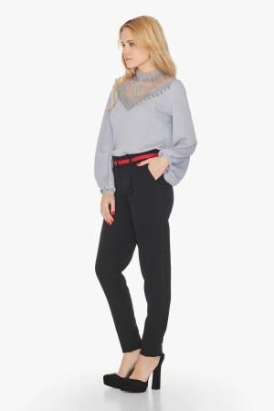 Блуза «Тібо» сірого кольору