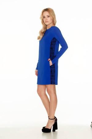 Платье «Пава» синего цвета