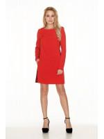 Платье «Пава» красного цвета