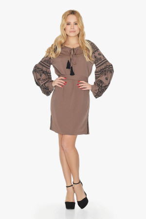 Сукня «Панночка» коричневого кольору