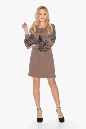 Платье «Барышня» коричневого цвета
