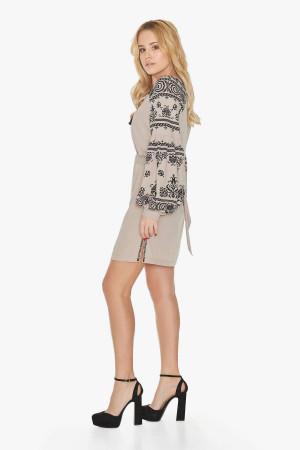 Платье «Барышня» бежевого цвета