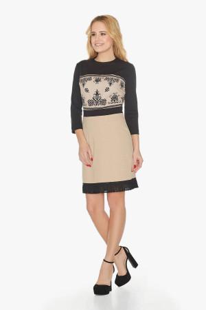 Платье «Вита» бежевого цвета