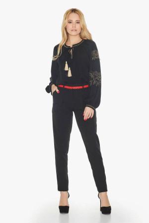 Блуза «Эрика» черного цвета