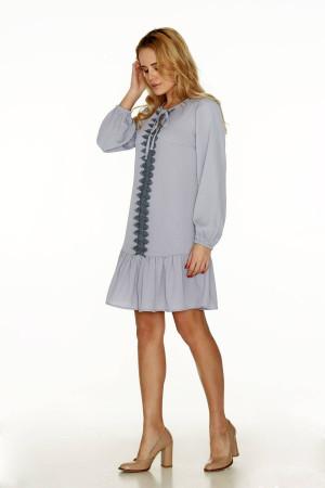 Платье «Морион» серого цвета