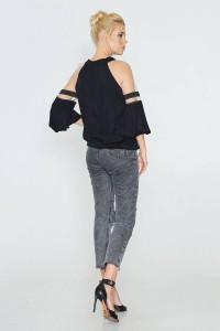 Блуза «Джаннет» черного цвета