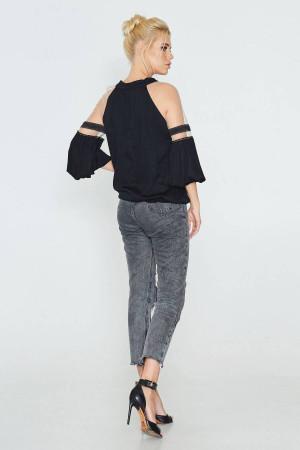 Блуза «Джаннет» чорного кольору
