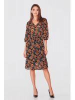 Платье «Морфея» черного цвета с цветочным принтом