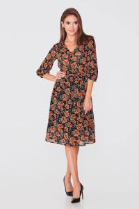 Сукня «Морфея» чорного кольору з квітковим принтом