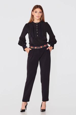 Блуза «Джоанна» черного цвета