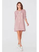 Платье «Линея» пудрового цвета