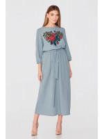 Платье «Бакароль» бирюзового цвета