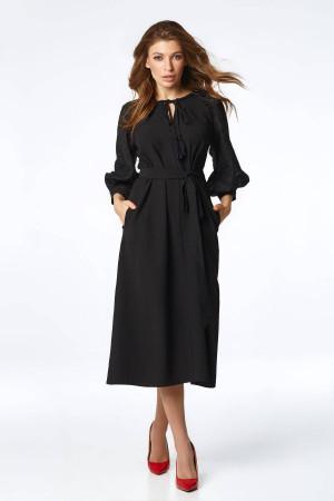 Платье «Милава» черного цвета