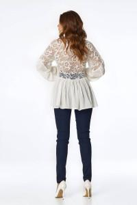 Блуза «Мисти» молочного цвета