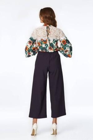 Блуза «Нікс» молочного кольору з принтом