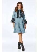 Платье «Марвин» голубого цвета