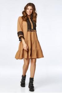 Платье «Марвин» коричневого цвета