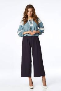 Блуза «Миори» голубого цвета