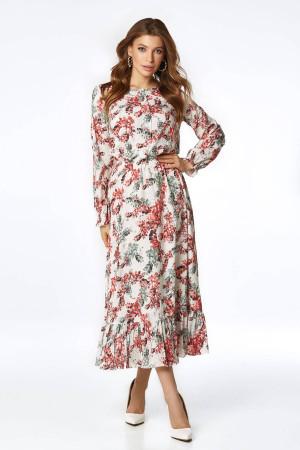 Платье «Уиннон» молочного цвета с принтом