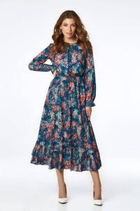 Сукня «Віннон» синього кольору з принтом